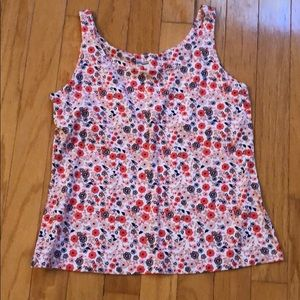 Ladies XL tank top, cotton, pinks/blues. New